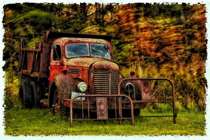 20110929 Knife River Truck glo polaroid trans_9793