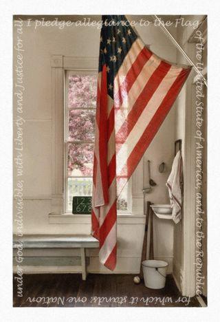 20120425_Westport School Flag Script impasto HDR